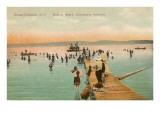Beach Scene, Chautauqua, New York Posters