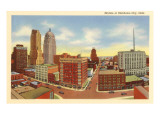 Skyline of Oklahoma City, Oklahoma Prints