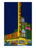 Neon Signs, Las Vegas Club, Las Vegas, Nevada Art