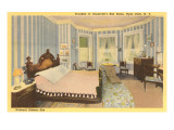 Interior, FDR Home, Hyde Park, New York Poster
