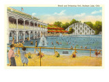 Beach and Pool, Buckeye Lake, Ohio Posters