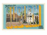 Greetings from Auburn, New York Print