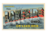 Greetings from Lakeside, Ohio Print