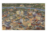 Aerial View of Dayton, Ohio Kunst