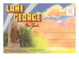 Postcard Folder of Lake George, New York Posters