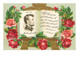 Lincoln in Book with Quotation Posters