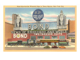 Bond Waterfall Sign, Times Square, New York City Posters