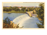 Dam on Scioto River, Columbus, Ohio Posters