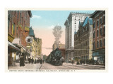 Locomotive going through Syracuse, New York Posters
