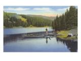 Boat Dock on Lake in Northwest Prints