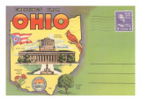Greetings from Ohio, Postcard Folder Print