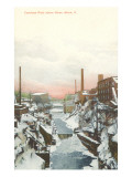 Cuyahoga River in Winter, Akron, Ohio Prints