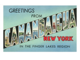 Greetings from Canandaiga, New York Art