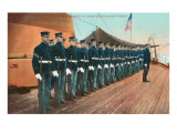 Marine Guard on Naval Warship Print