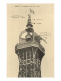 Top of the Eiffel Tower Prints
