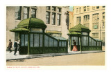 Subway Entrance, New York City Print