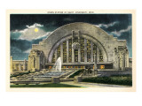 Union Station at Night, Cincinnati, Ohio Prints