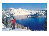 Crater Lake in Winter, Oregon Posters