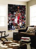 Chicago Bulls v Atlanta Hawks - Game Four,  ATLANTA - MAY 8: Derrick Rose and Jason Collins Wall Mural by Scott Cunningham