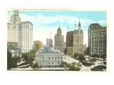 City Hall, Newspaper Row, New York City Print