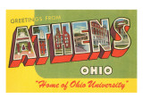 Greetings from Athens, Ohio Prints