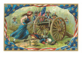 Molly Pitcher at the Cannon's Mouth Posters