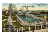 Steeplechase Swimming Pool, Coney Island, New York City Art