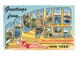 Greetings from Roseland Park, New York Poster