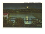 Moon over Basin, Coshocton, Ohio Print