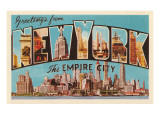 Greetings from New York, the Empire City Print