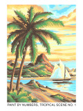Paint by Numbers, Tropical Scene Number One Poster