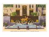 Prometheus Fountain, Rockefeller Center, New York City Prints