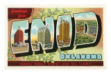 Greetings from Enid, Oklahoma Prints