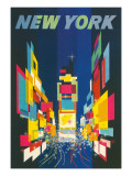 Travel Poster, New York City Planscher