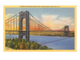 George Washington Bridge, New York City Poster