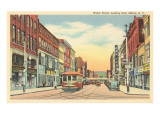 Street Scene on Water Street, Elmira, New York Prints