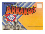 Postcard Folder, Greetings from Arkansas Prints