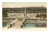 Place de la Concorde, Seine, Paris Prints