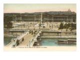 Place de la Concorde, Seine, Paris Prints
