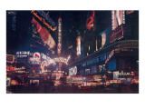 Neon in Times Square at Night, New York City Prints