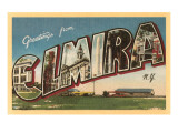 Greetings from Elmira, New York Prints