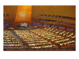 United Nations General Assembly Hall,  New York City Photographie
