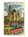Buildings near Fifth Avenue, Central Park, New York City Posters