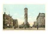 Early View of Times Square, New York City Poster