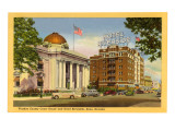 Courthouse and Hotel Riverside, Reno,  Nevada Affiches