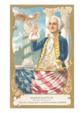 George Washington Taking Inaugural Oath Print