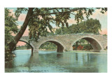Old Leeds Bridge, Catskill, New York Prints