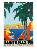 Riviera Travel Poster Prints