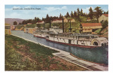 Cascade Locks, Columbia River, Oregon Prints