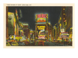 Times Square at Night, New York City Prints